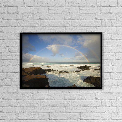 """Printscapes Wall Art: 18"""" x 12"""" Canvas Print With Black Frame - by Ron Dahlquist"""