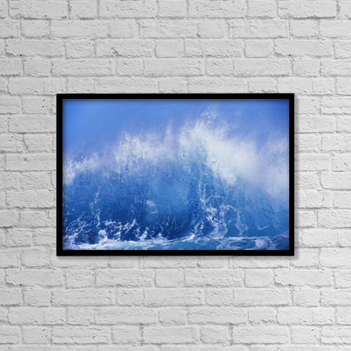 "Printscapes Wall Art: 18"" x 12"" Canvas Print With Black Frame - Travel by Vince Cavataio"