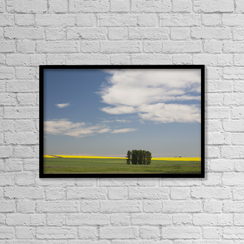 """Printscapes Wall Art: 18"""" x 12"""" Canvas Print With Black Frame - Agriculture by Michael Interisano"""