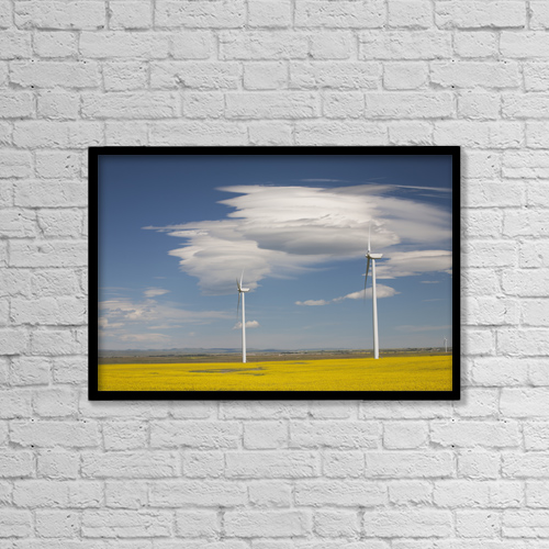 """Printscapes Wall Art: 18"""" x 12"""" Canvas Print With Black Frame - Environmental Issues by Michael Interisano"""