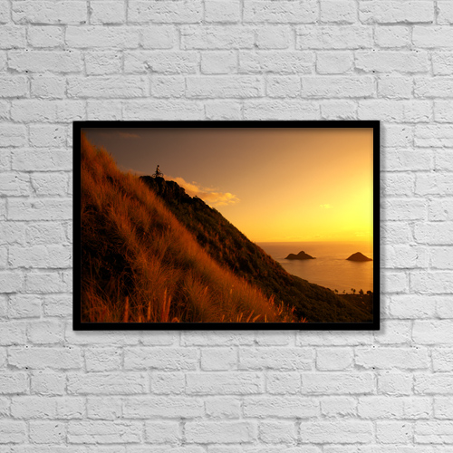 "Printscapes Wall Art: 18"" x 12"" Canvas Print With Black Frame - Sports and Recreation by Dana Edmunds"