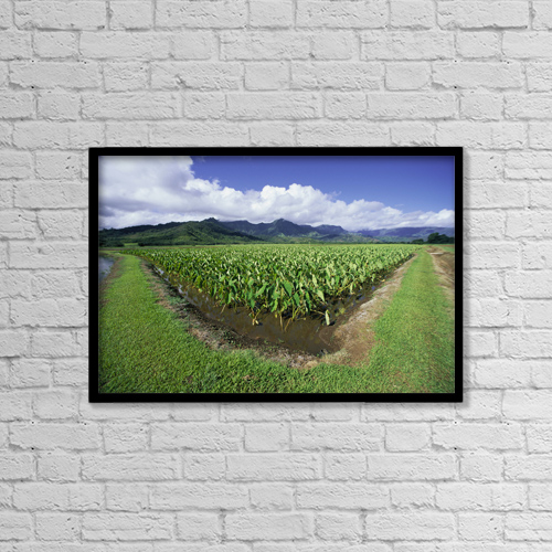 "Printscapes Wall Art: 18"" x 12"" Canvas Print With Black Frame - Travel by Ron Dahlquist"
