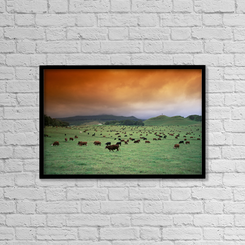 "Printscapes Wall Art: 18"" x 12"" Canvas Print With Black Frame - Other by Ron Dahlquist"