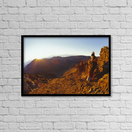 "Printscapes Wall Art: 18"" x 12"" Canvas Print With Black Frame - Scenic by Dave Fleetham"