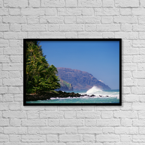 "Printscapes Wall Art: 18"" x 12"" Canvas Print With Black Frame - Scenic by Greg Vaughn"