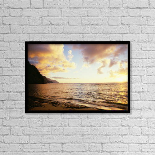 """Printscapes Wall Art: 18"""" x 12"""" Canvas Print With Black Frame - Scenic by Peter French"""