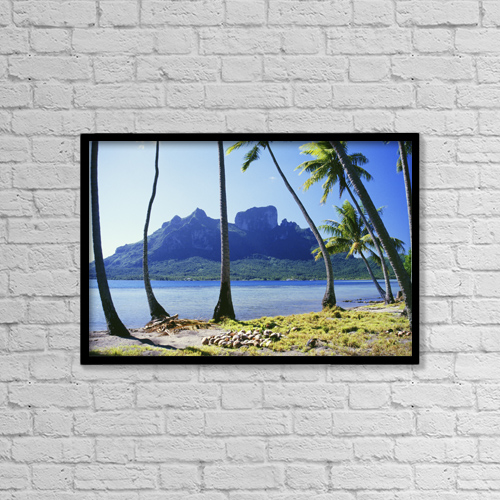 "Printscapes Wall Art: 18"" x 12"" Canvas Print With Black Frame - Scenic by Peter Stone"