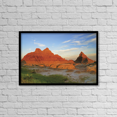 "Printscapes Wall Art: 18"" x 12"" Canvas Print With Black Frame - Scenic by Philippe Widling"