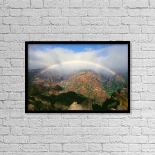 "Printscapes Wall Art: 18"" x 12"" Canvas Print With Black Frame - Scenic by Brent Black"