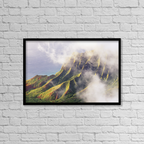 "Printscapes Wall Art: 18"" x 12"" Canvas Print With Black Frame - Scenic by Carl Shaneff"