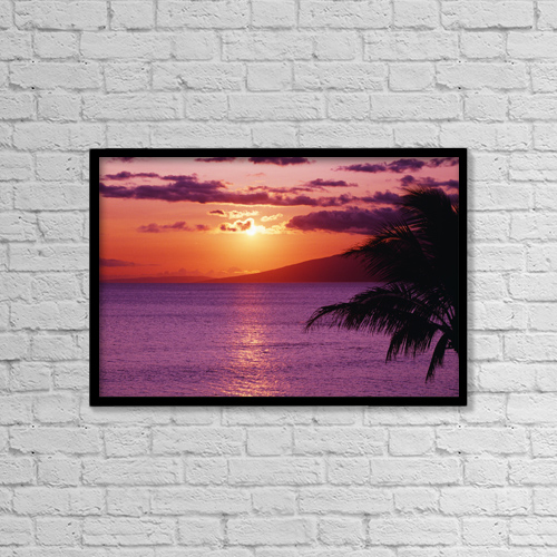 "Printscapes Wall Art: 18"" x 12"" Canvas Print With Black Frame - Scenic by Tomas del Amo"