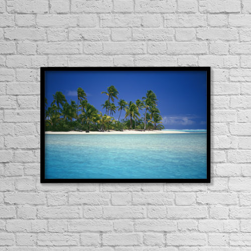 "Printscapes Wall Art: 18"" x 12"" Canvas Print With Black Frame - Scenic by Kyle Rothenborg"