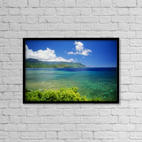 "Printscapes Wall Art: 18"" x 12"" Canvas Print With Black Frame - Scenic by Allan Seiden"