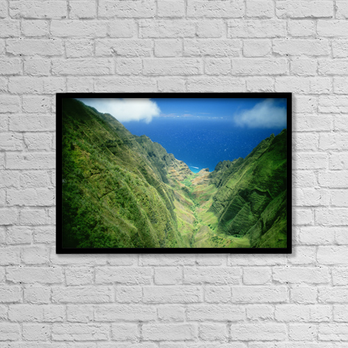 "Printscapes Wall Art: 18"" x 12"" Canvas Print With Black Frame - Scenic by Liysa Swart"