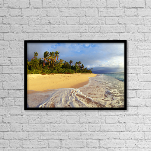 "Printscapes Wall Art: 18"" x 12"" Canvas Print With Black Frame - Travel by Liysa Swart"