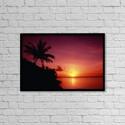 "Printscapes Wall Art: 18"" x 12"" Canvas Print With Black Frame - Travel by Greg Vaughn"