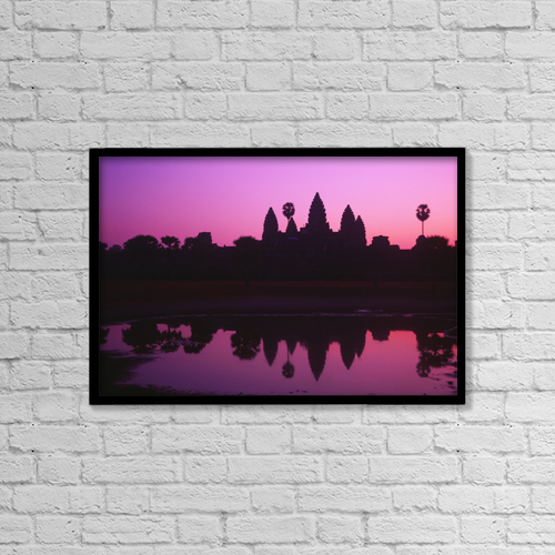 "Printscapes Wall Art: 18"" x 12"" Canvas Print With Black Frame - Architectural Exteriors by Allan Seiden"
