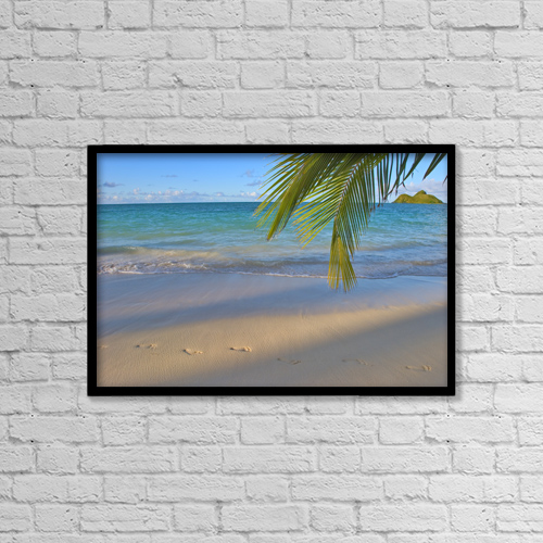 "Printscapes Wall Art: 18"" x 12"" Canvas Print With Black Frame - Travel by Tomas del Amo"
