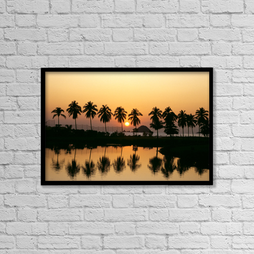 "Printscapes Wall Art: 18"" x 12"" Canvas Print With Black Frame - Travel by Bill Schildge"