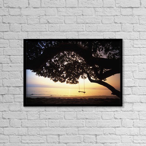 "Printscapes Wall Art: 18"" x 12"" Canvas Print With Black Frame - Nature by Dana Edmunds"