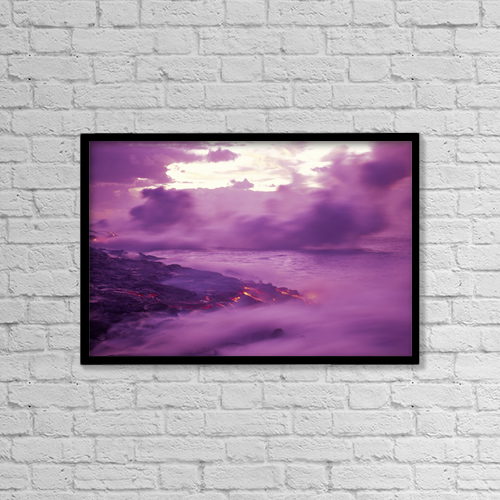 """Printscapes Wall Art: 18"""" x 12"""" Canvas Print With Black Frame - Travel by Ron Dahlquist"""