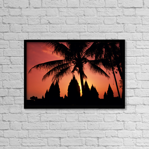 """Printscapes Wall Art: 18"""" x 12"""" Canvas Print With Black Frame - Religious by Richard Maschmeyer"""