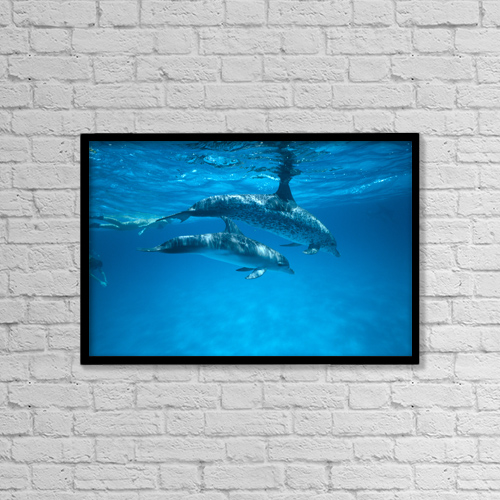 "Printscapes Wall Art: 18"" x 12"" Canvas Print With Black Frame - Travel by Ed Robinson"