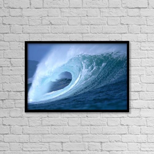 "Printscapes Wall Art: 18"" x 12"" Canvas Print With Black Frame - Nature by Vince Cavataio"
