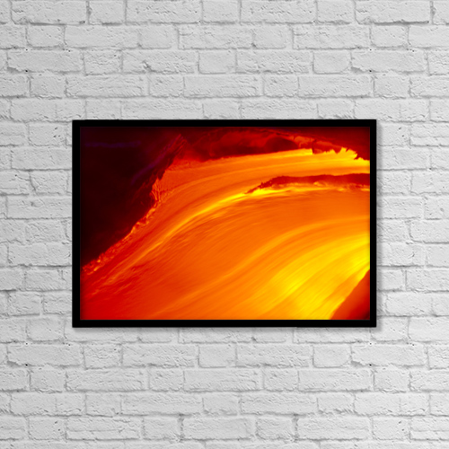 "Printscapes Wall Art: 18"" x 12"" Canvas Print With Black Frame - Nature by Erik Aeder"