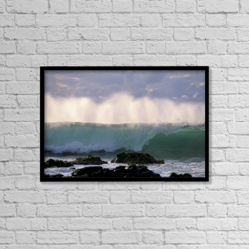 "Printscapes Wall Art: 18"" x 12"" Canvas Print With Black Frame - Other by Robert Sablan"