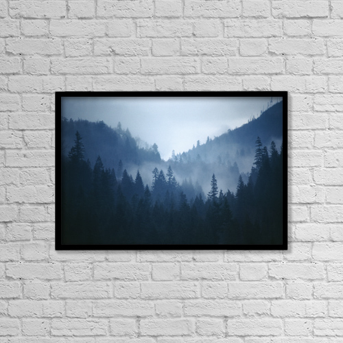 "Printscapes Wall Art: 18"" x 12"" Canvas Print With Black Frame - Fv4277, Bert Klassen by Bert Klassen"
