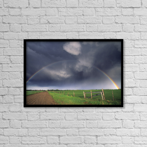 "Printscapes Wall Art: 18"" x 12"" Canvas Print With Black Frame - Fv3563, Natural Moments Photography by Darwin Wiggett"