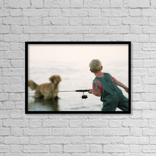 """Printscapes Wall Art: 18"""" x 12"""" Canvas Print With Black Frame - Fv3556, Natural Moments Photography by Darwin Wiggett"""