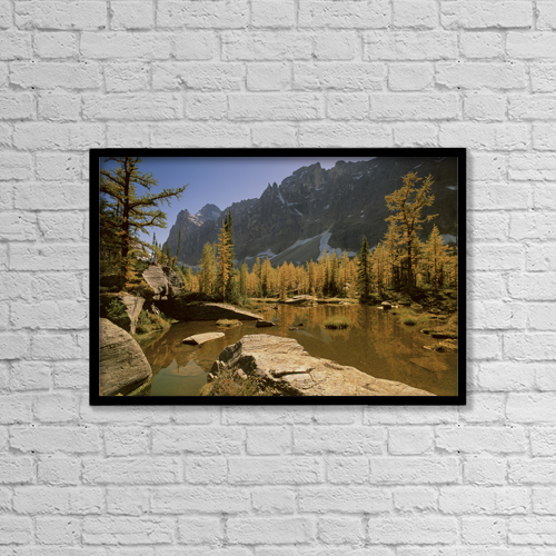 "Printscapes Wall Art: 18"" x 12"" Canvas Print With Black Frame - Fv2260, Natural Moments Photography by Darwin Wiggett"