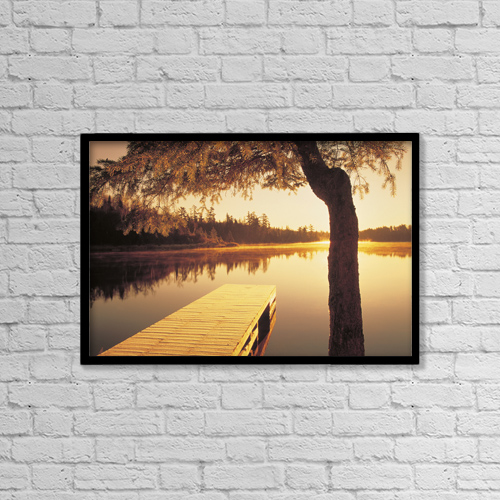"Printscapes Wall Art: 18"" x 12"" Canvas Print With Black Frame - Fl5455, Dave Reede by Dave Reede"