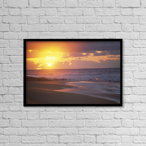 "Printscapes Wall Art: 18"" x 12"" Canvas Print With Black Frame - Scenic by Rita Ariyoshi"