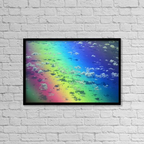 "Printscapes Wall Art: 18"" x 12"" Canvas Print With Black Frame - Nature by Allan Seiden"
