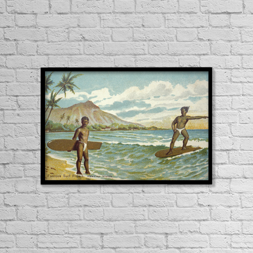 """Printscapes Wall Art: 18"""" x 12"""" Canvas Print With Black Frame - C by Hawaiian Legacy Archive"""