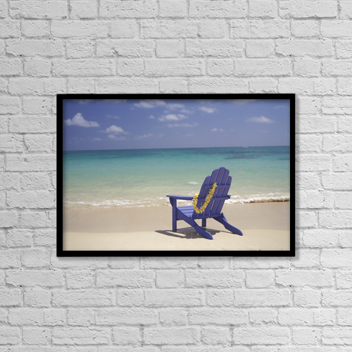 """Printscapes Wall Art: 18"""" x 12"""" Canvas Print With Black Frame - Travel by Dana Edmunds"""