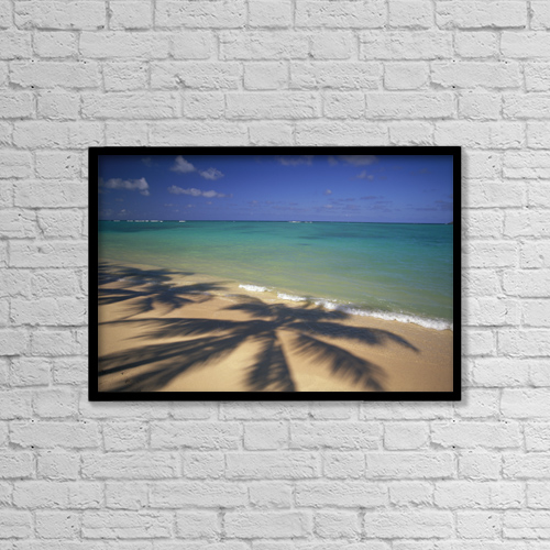 "Printscapes Wall Art: 18"" x 12"" Canvas Print With Black Frame - Travel by Dana Edmunds"