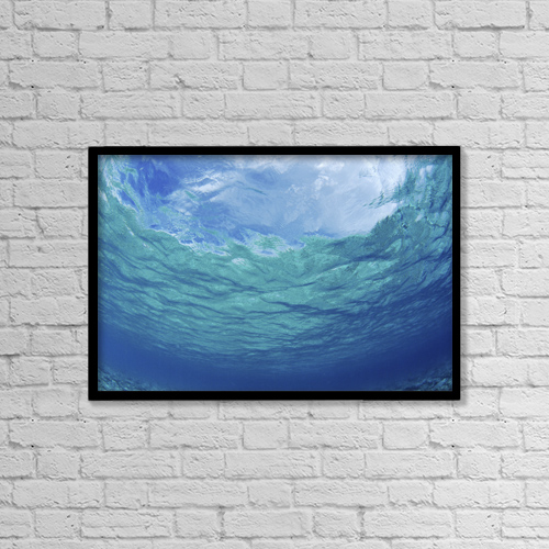 "Printscapes Wall Art: 18"" x 12"" Canvas Print With Black Frame - Travel by Don King"