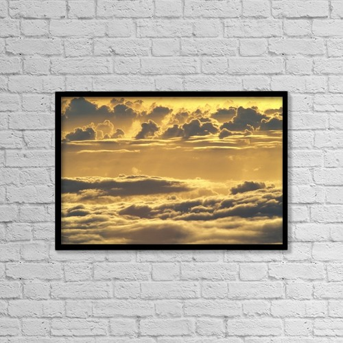 "Printscapes Wall Art: 18"" x 12"" Canvas Print With Black Frame - Travel by Carl Shaneff"