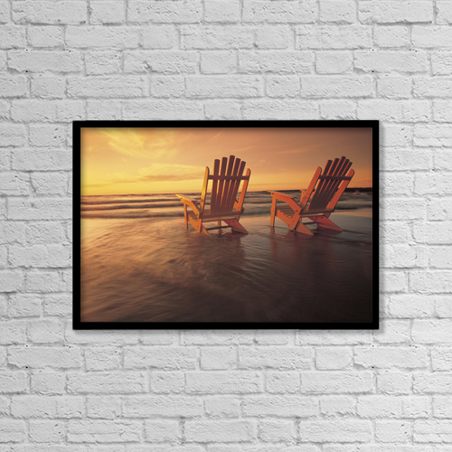 "Printscapes Wall Art: 18"" x 12"" Canvas Print With Black Frame - Fl5448, Dave Reede by Dave Reede"