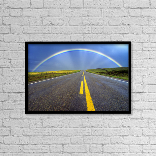 """Printscapes Wall Art: 18"""" x 12"""" Canvas Print With Black Frame - Fv3551, Natural Moments Photography by Darwin Wiggett"""