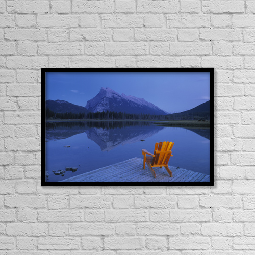 "Printscapes Wall Art: 18"" x 12"" Canvas Print With Black Frame - Fv2570, Natural Moments Photography by Darwin Wiggett"