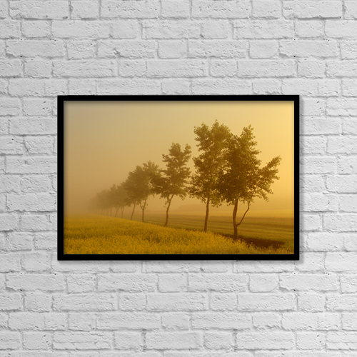 """Printscapes Wall Art: 18"""" x 12"""" Canvas Print With Black Frame - Scenic by Mike Grandmaison"""