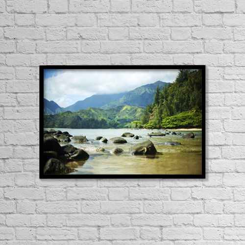 "Printscapes Wall Art: 18"" x 12"" Canvas Print With Black Frame - Travel by Kicka Witte"