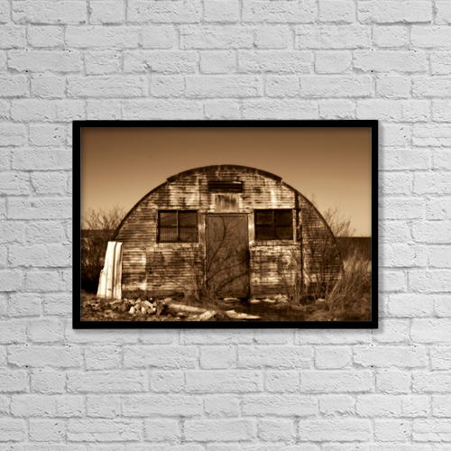 "Printscapes Wall Art: 18"" x 12"" Canvas Print With Black Frame - Abandoned Storage Shed by Vast Photography"