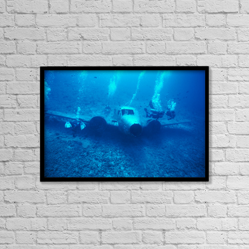 "Printscapes Wall Art: 18"" x 12"" Canvas Print With Black Frame - Sports and Recreation by Chris Abraham"