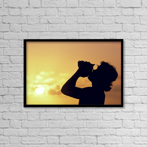 """Printscapes Wall Art: 18"""" x 12"""" Canvas Print With Black Frame - Travel by Robert Sablan"""